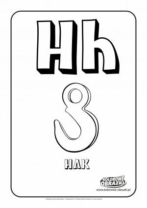 Kolorowanki dla dzieci - Litery / Litera H. Kolorowanka z literą H