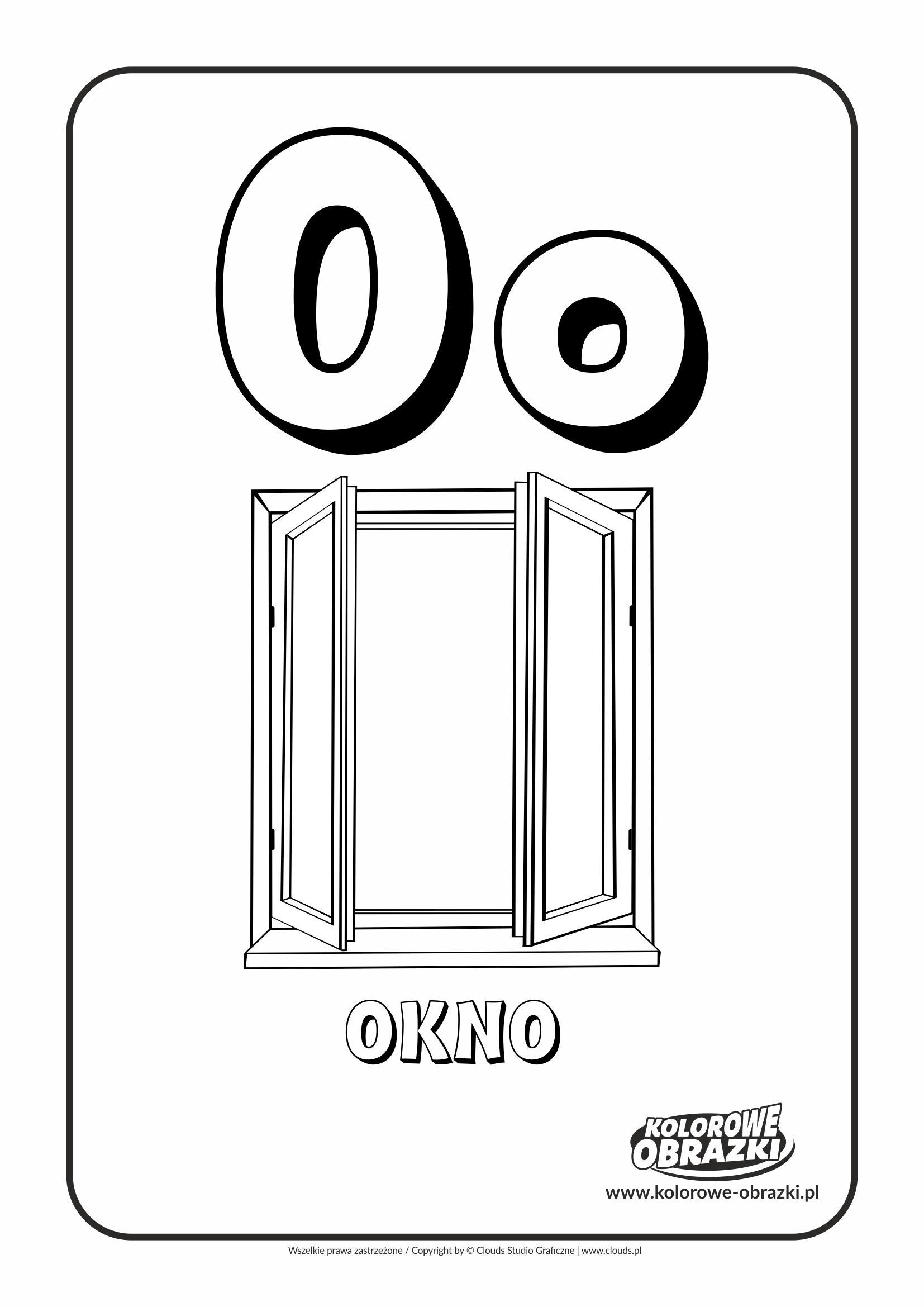 Kolorowanki dla dzieci - Litery / Litera O. Kolorowanka z literą O