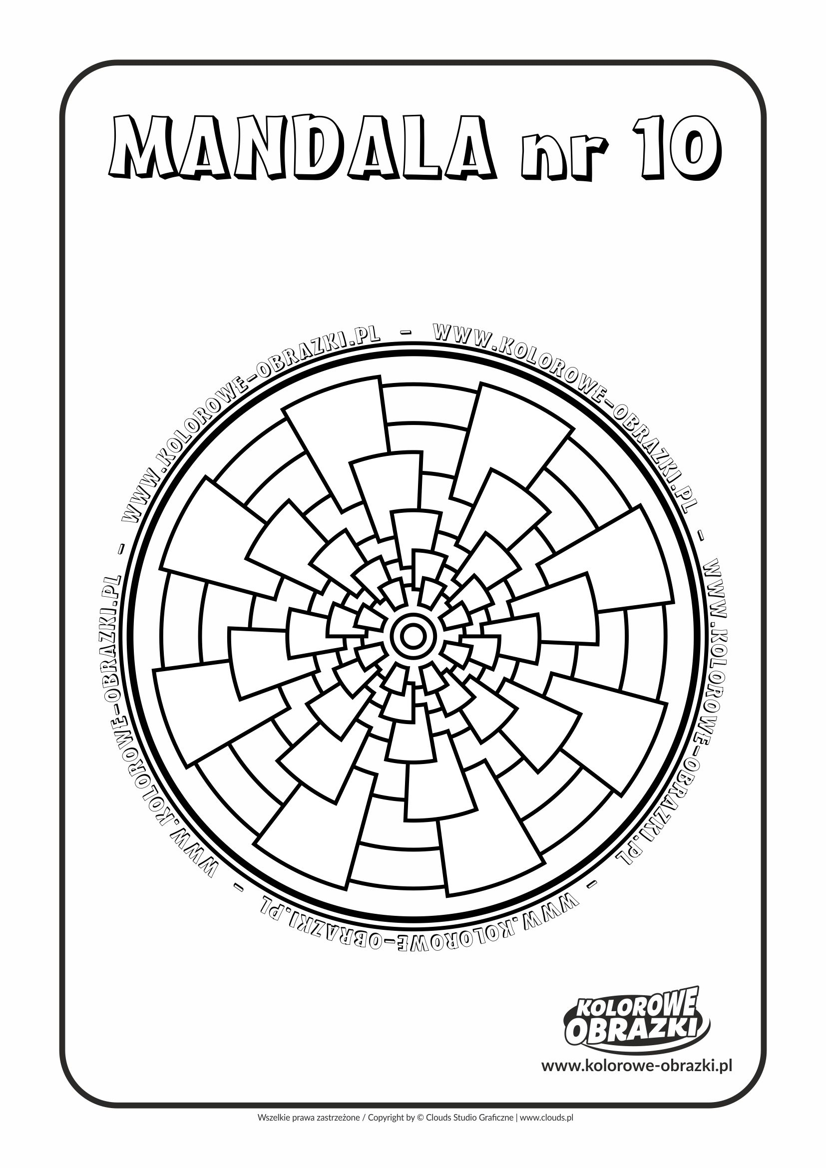 Kolorowanki dla dzieci - Mandale / Mandala nr 10. Kolorowanka z mandalą