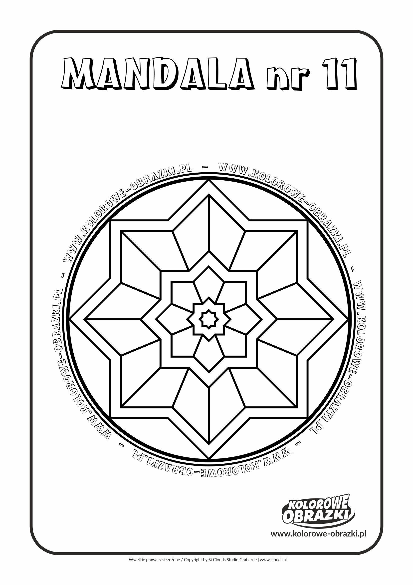 Kolorowanki dla dzieci - Mandale / Mandala nr 11. Kolorowanka z mandalą