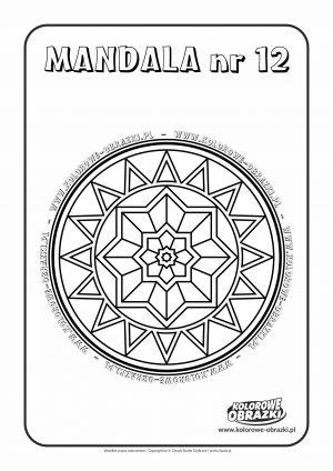 Kolorowanki dla dzieci - Mandale / Mandala nr 12. Kolorowanka z mandalą
