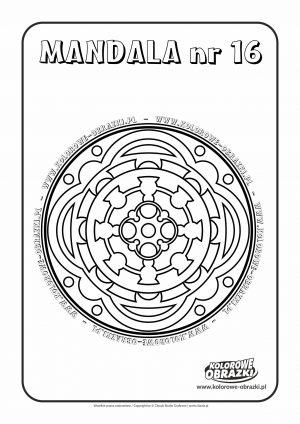 Kolorowanki dla dzieci - Mandale / Mandala nr 16. Kolorowanka z mandalą