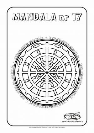 Kolorowanki dla dzieci - Mandale / Mandala nr 17. Kolorowanka z mandalą