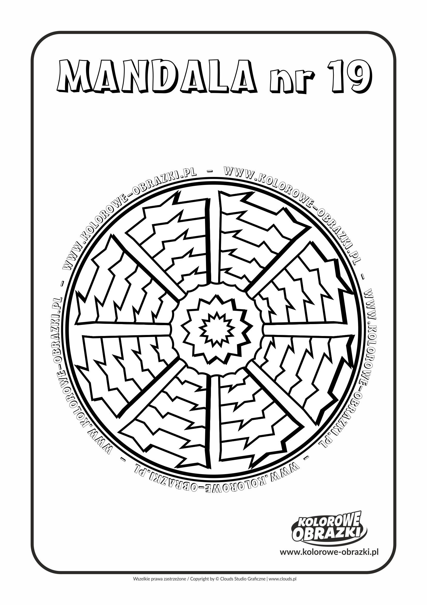 Kolorowanki dla dzieci - Mandale / Mandala nr 19. Kolorowanka z mandalą