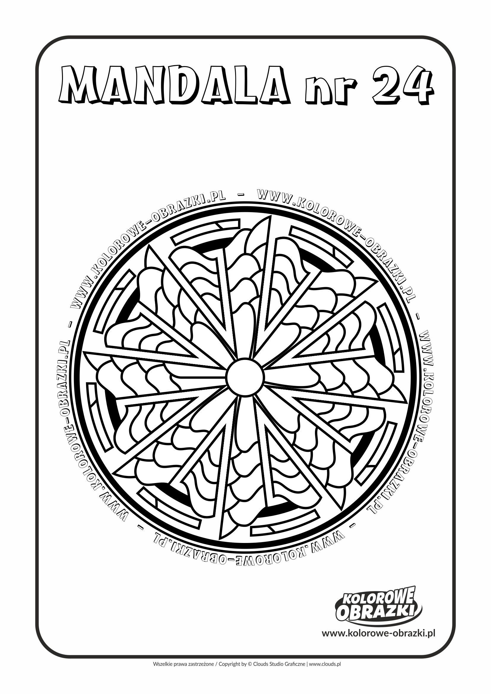 Kolorowanki dla dzieci - Mandale / Mandala nr 24. Kolorowanka z mandalą