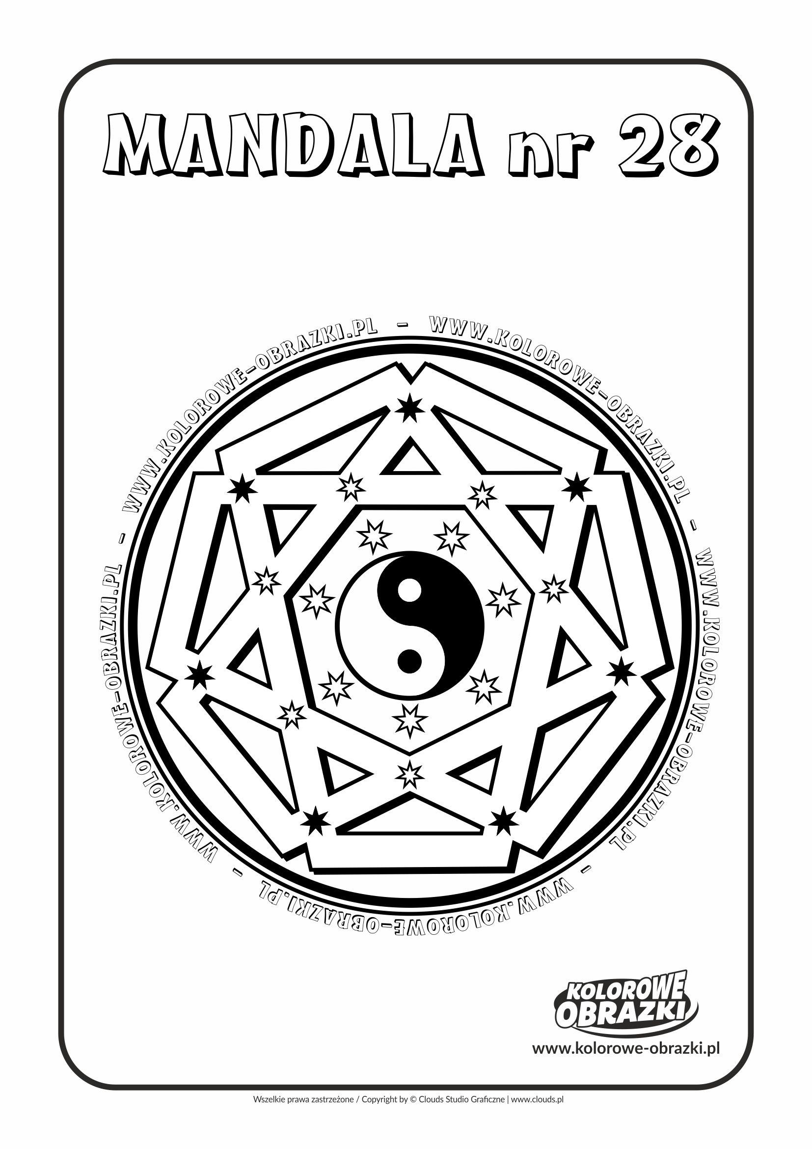 Kolorowanki dla dzieci - Mandale / Mandala nr 28. Kolorowanka z mandalą