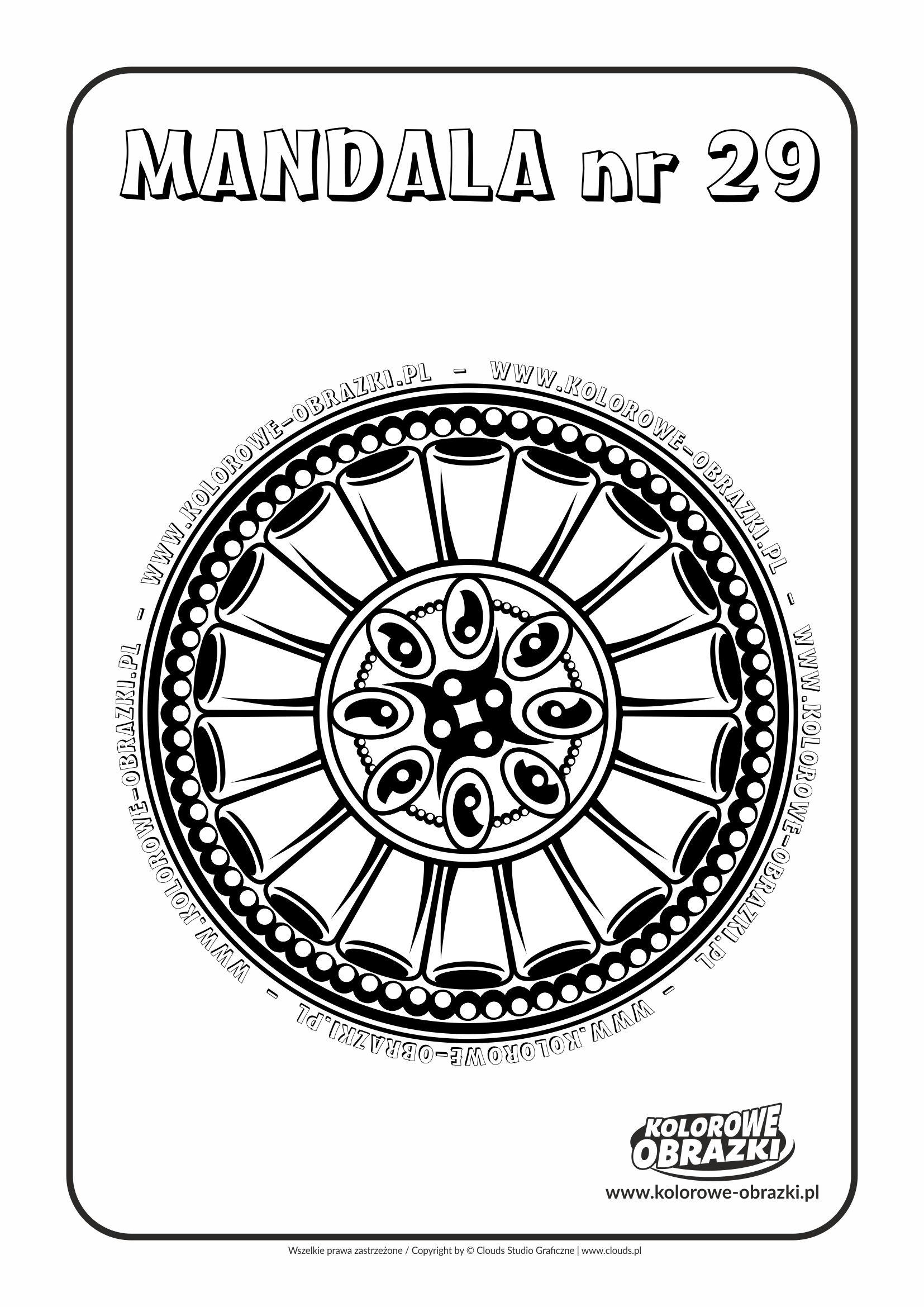Kolorowanki dla dzieci - Mandale / Mandala nr 29. Kolorowanka z mandalą
