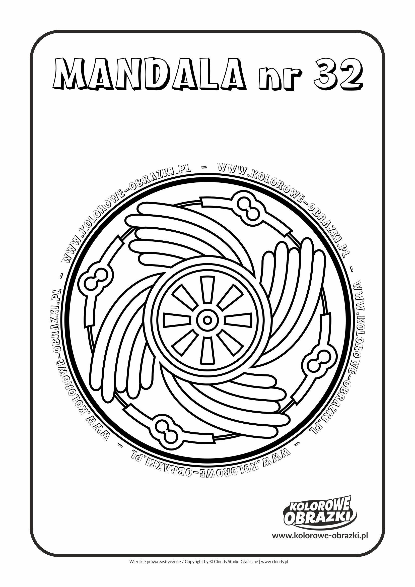 Kolorowanki dla dzieci - Mandale / Mandala nr 32. Kolorowanka z mandalą