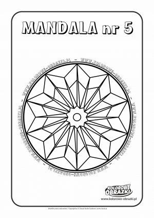 Kolorowanki dla dzieci - Mandale / Mandala nr 5. Kolorowanka z mandalą