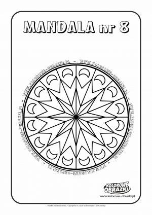 Kolorowanki dla dzieci - Mandale / Mandala nr 8. Kolorowanka z mandalą