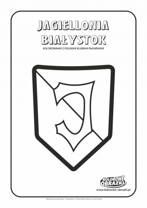 Kolorowanki dla dzieci - Polskie kluby piłkarskie / Jagiellonia Białystok. Kolorowanka z polskimi klubami piłkarskimi