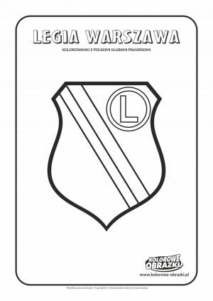 Kolorowanki dla dzieci - Polskie kluby piłkarskie / Legia Warszawa. Kolorowanka z polskimi klubami piłkarskimi