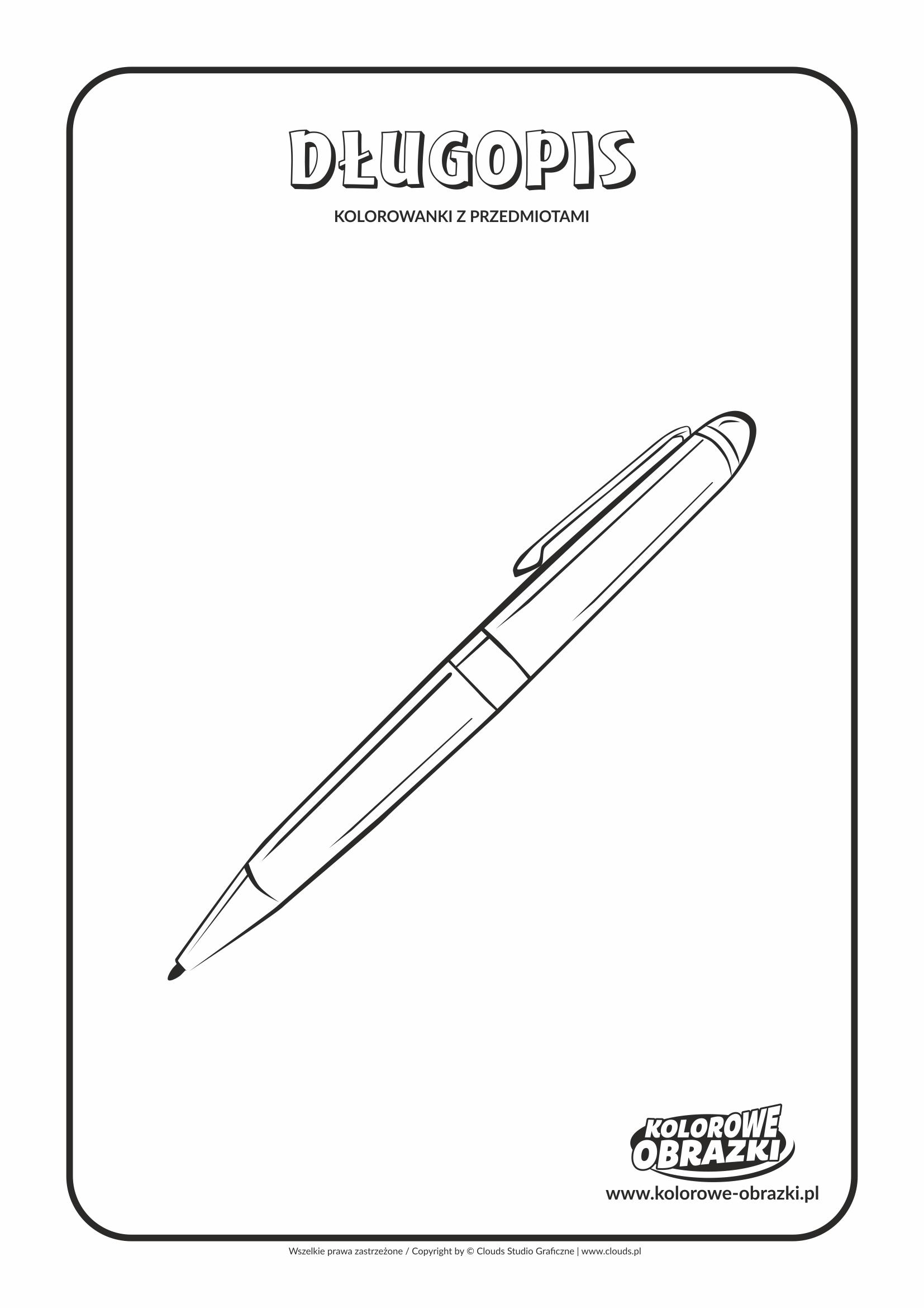 Kolorowanki dla dzieci - Przedmioty / Długopis. Kolorowanka z długopisem