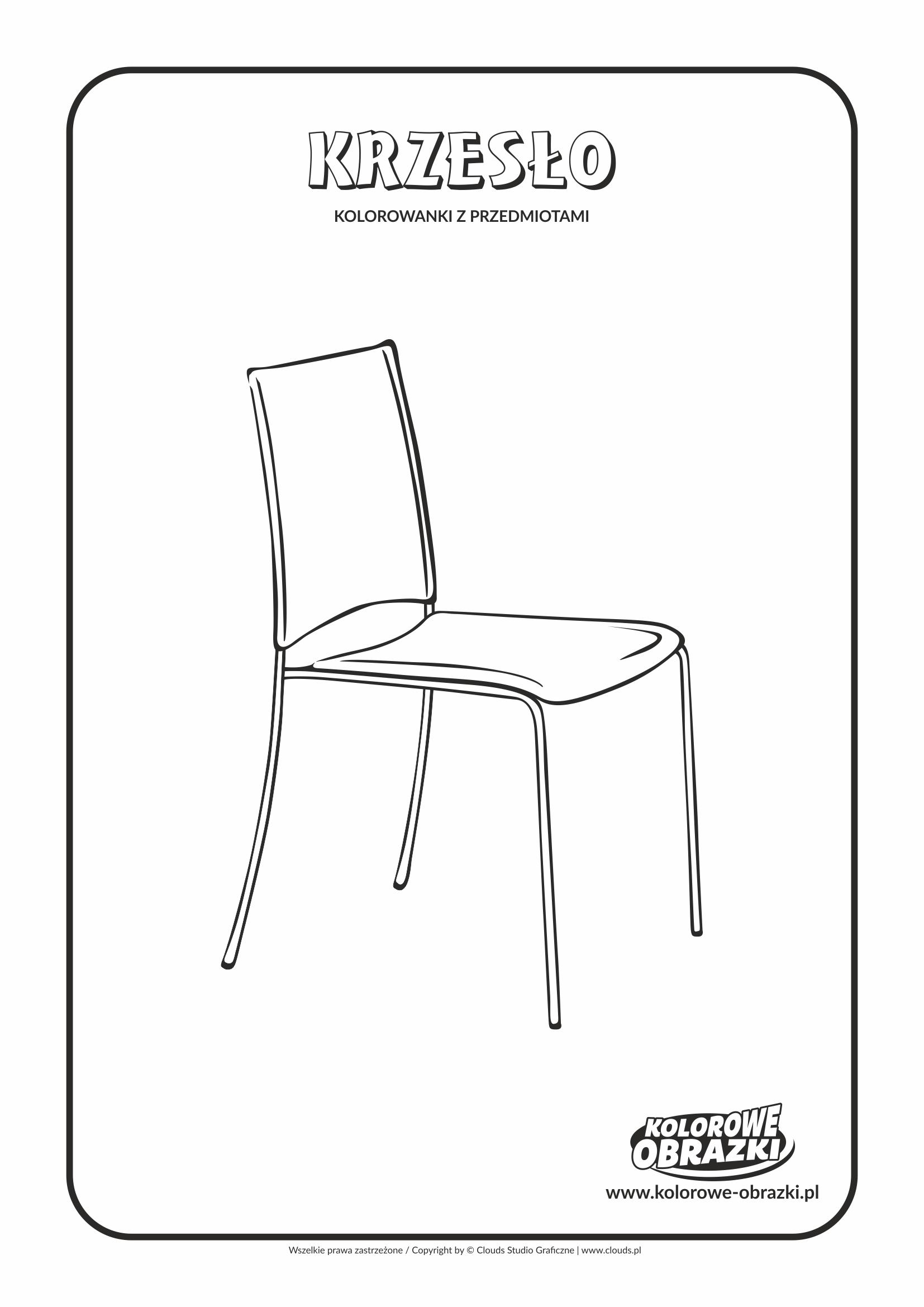 Kolorowanki dla dzieci - Przedmioty / Krzesło. Kolorowanka z krzesłem