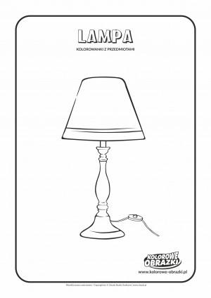 Kolorowanki dla dzieci - Przedmioty / Lampa. Kolorowanka z lampą