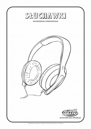 Kolorowanki dla dzieci - Przedmioty / Słuchawki. Kolorowanka ze słuchawkami