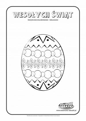 Kolorowanki dla dzieci - Wielkanoc / Wielkanocna pisanka 2. Kolorowanka z Wielkanocną pisanką 2