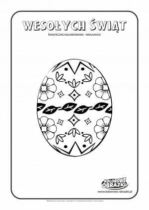 Kolorowanki dla dzieci - Wielkanoc / Wielkanocna pisanka 3. Kolorowanka z Wielkanocną pisanką 3