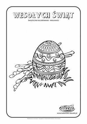 Kolorowanki dla dzieci - Wielkanoc / Wielkanocna pisanka. Kolorowanka z Wielkanocną pisanką