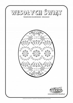 Kolorowanki dla dzieci - Wielkanoc / Wielkanocna pisanka 5. Kolorowanka z Wielkanocną pisanką 5