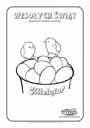 Kolorowanki dla dzieci - Wielkanoc / Wielkanocne jajka 2. Kolorowanka z wielkanocnymi jajkami 2