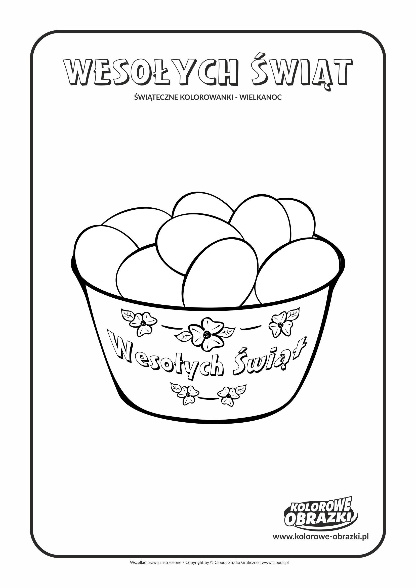 Kolorowanki dla dzieci - Wielkanoc / Wielkanocne jajka. Kolorowanka z wielkanocnymi jajkami
