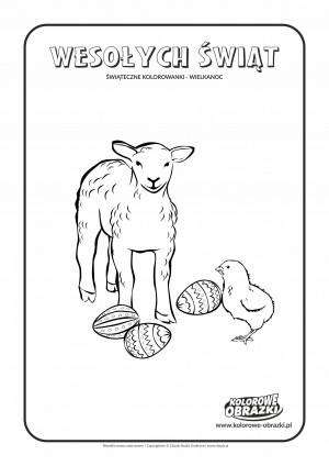 Kolorowanki dla dzieci - Wielkanoc / Wielkanocny obrazek. Kolorowanka z Wielkanocnym obrazkiem