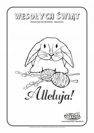 Kolorowanki dla dzieci - Wielkanoc / Wielkanocny zajączek 3. Kolorowanka z wielkanocnym zajączkiem 3