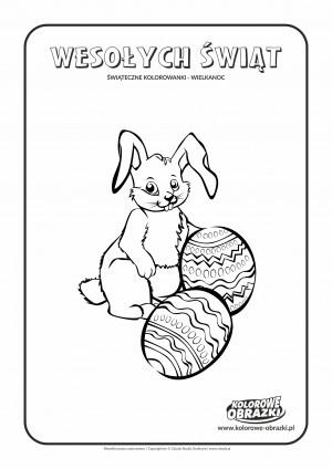 Kolorowanki dla dzieci - Wielkanoc / Wielkanocny zajączek. Kolorowanka z wielkanocnym zajączkiem