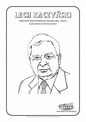 Kolorowanki dla dzieci - Znane osoby / Lech Kaczyński. Kolorowanka z Lechem Kaczyńskim