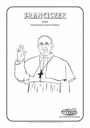 Kolorowanki dla dzieci - Znane osoby / Papież Franciszek. Kolorowanka z Papieżem Franciszkiem