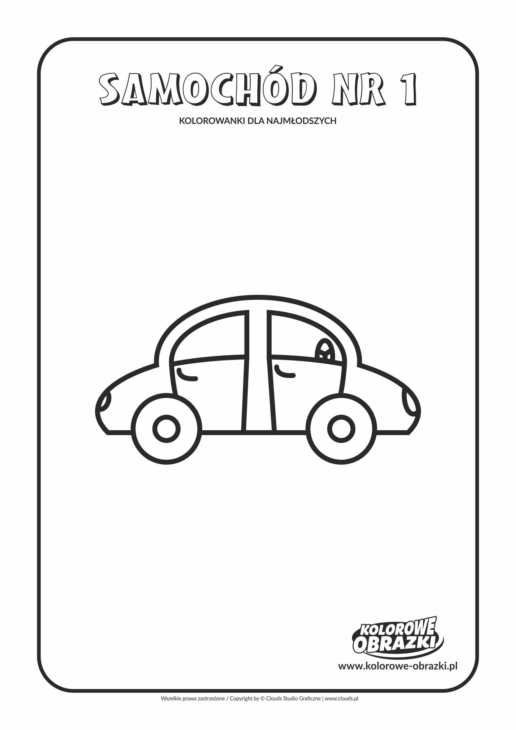 Proste kolorowanki dla najmłodszych - Samochody / Samochód nr 1. Kolorowanka z samochodem