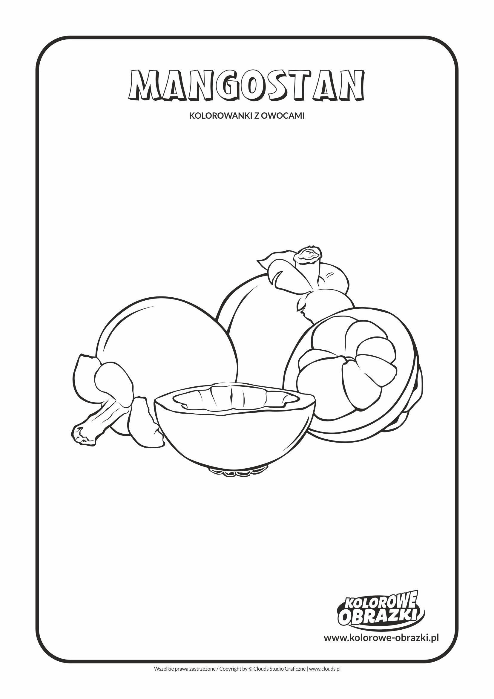Kolorowanki dla dzieci - Rośliny / Mangostan. Kolorowanka z mangostanem