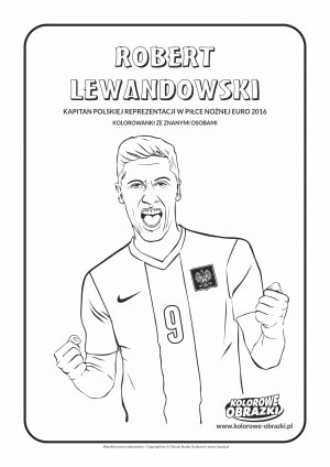 Kolorowanki Robert Lewandowski, Kolorowanka z Robertem Lewandowskim.