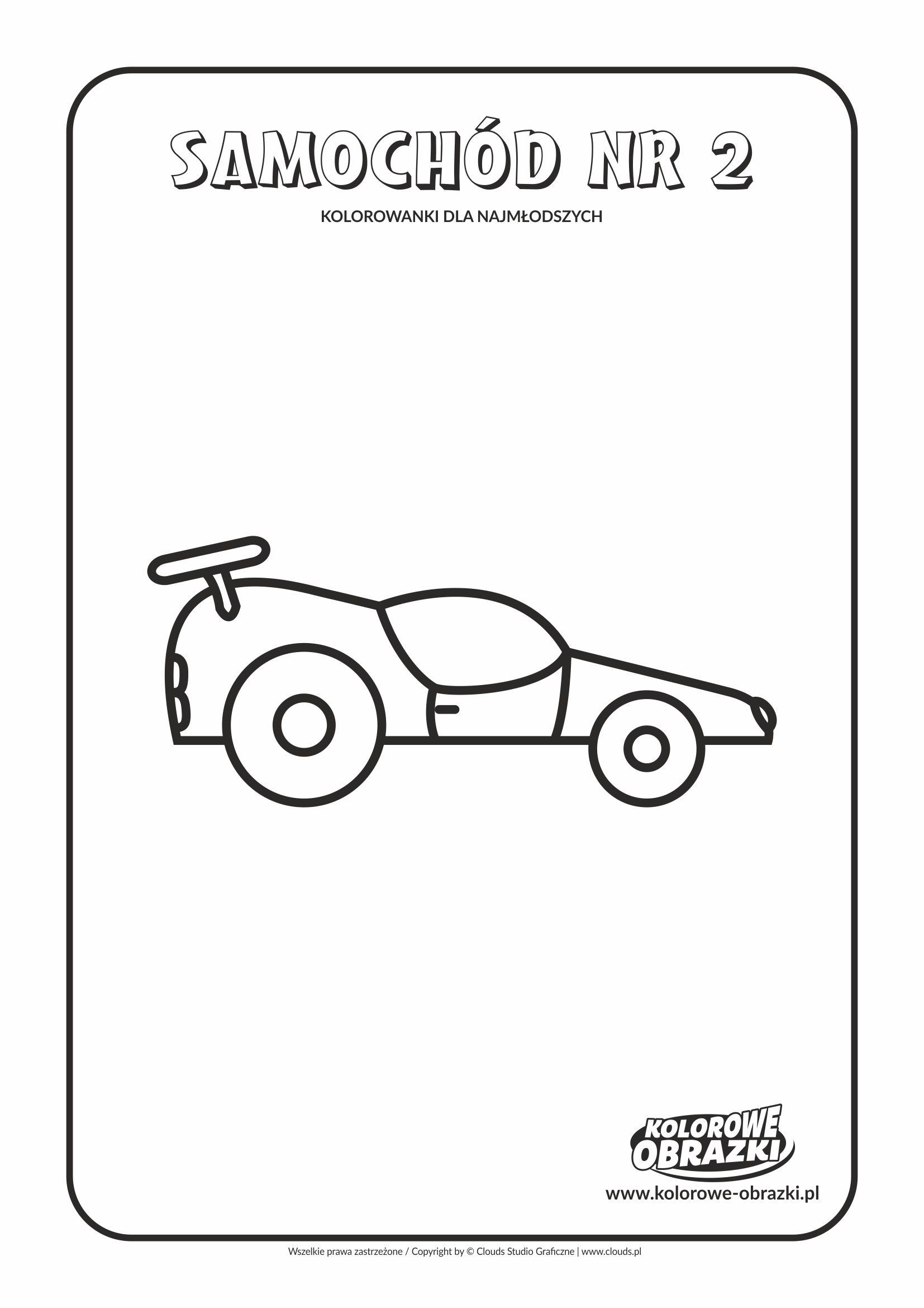 Proste kolorowanki dla najmłodszych – Samochód nr 2