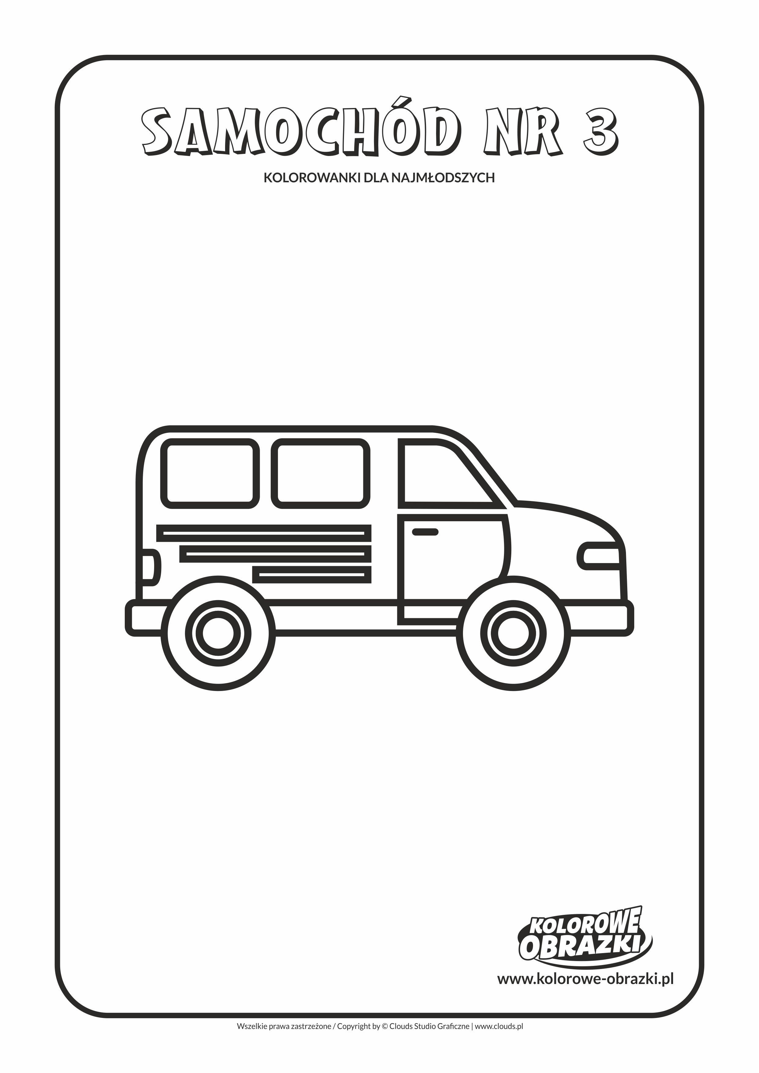 Proste kolorowanki dla najmłodszych - Samochody / Samochód nr 3. Kolorowanka z samochodem