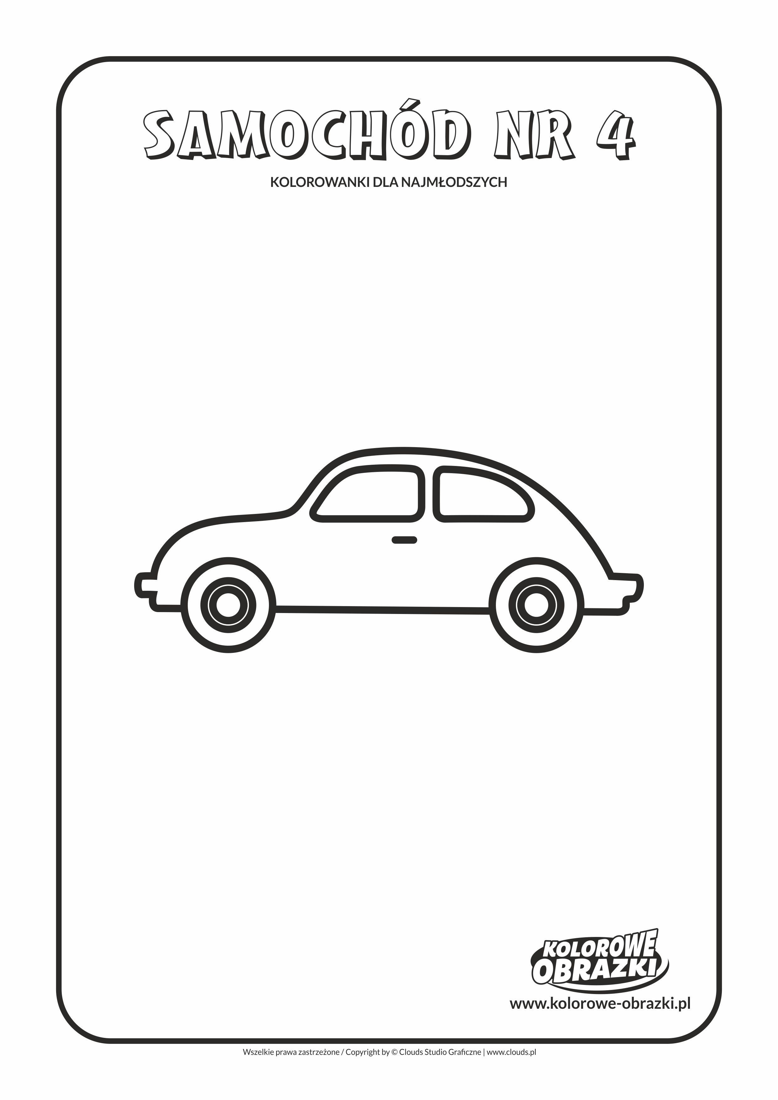 Proste kolorowanki dla najmłodszych - Samochody / Samochód nr 4. Kolorowanka z samochodem