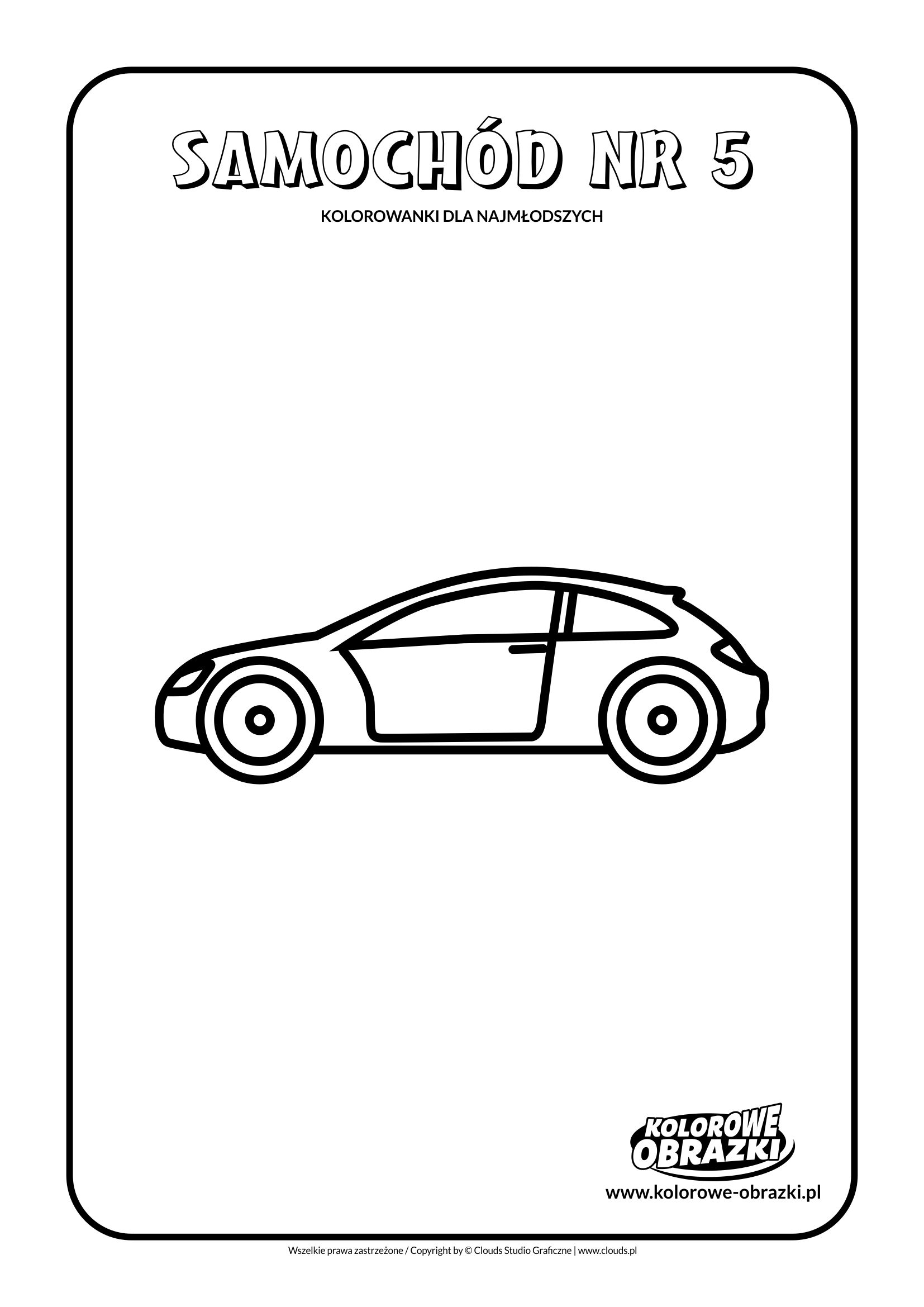 Proste kolorowanki dla najmłodszych - Samochody / Samochód nr 5. Kolorowanka z samochodem