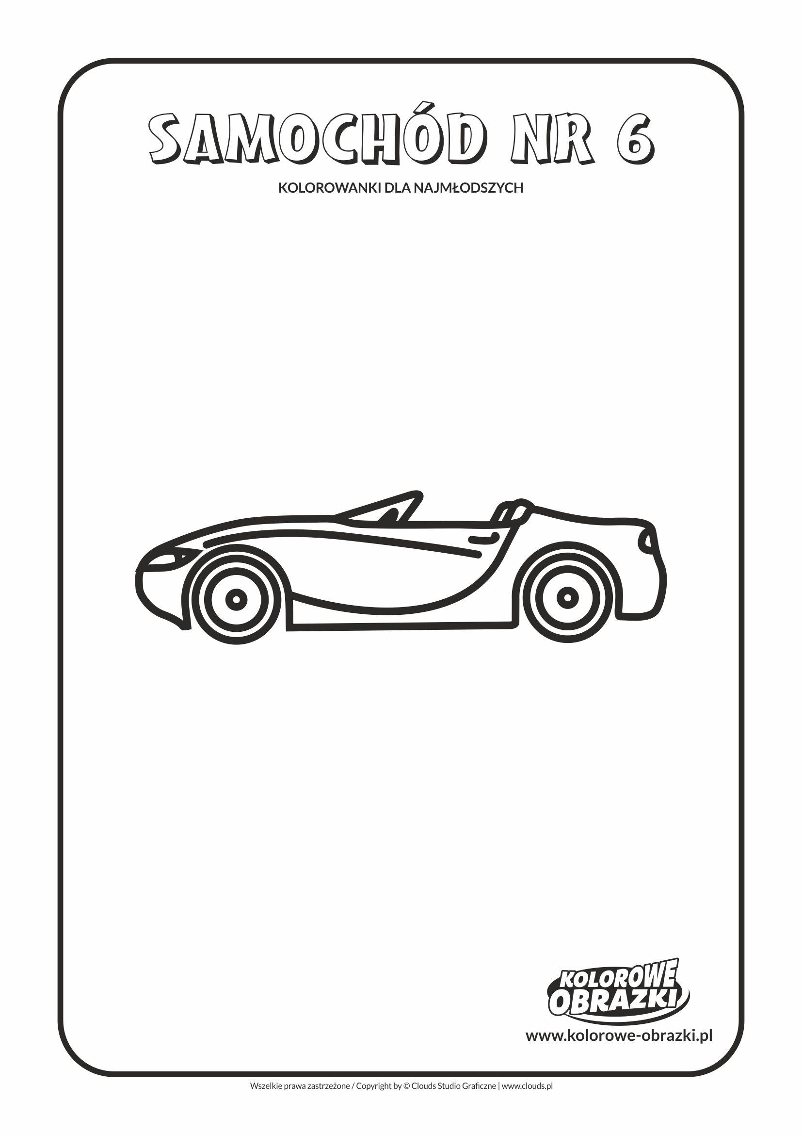 Proste kolorowanki dla najmłodszych - Samochody / Samochód nr 6. Kolorowanka z samochodem