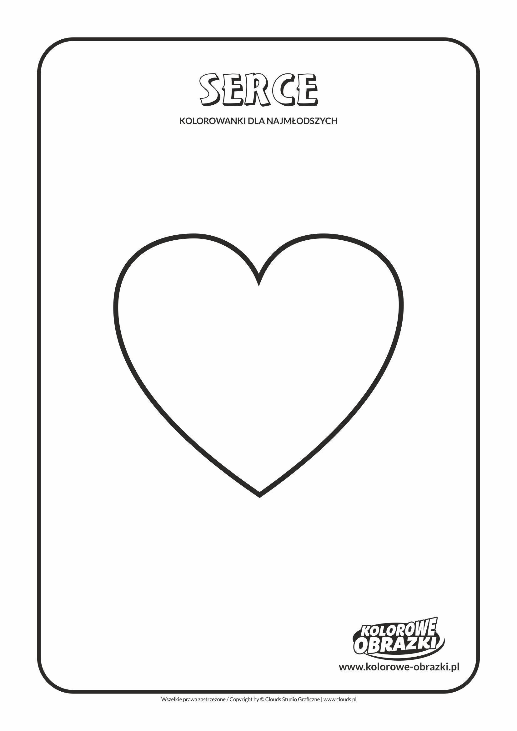 Proste kolorowanki dla najmłodszych - Kształty / Serce. Kolorowanka z sercem