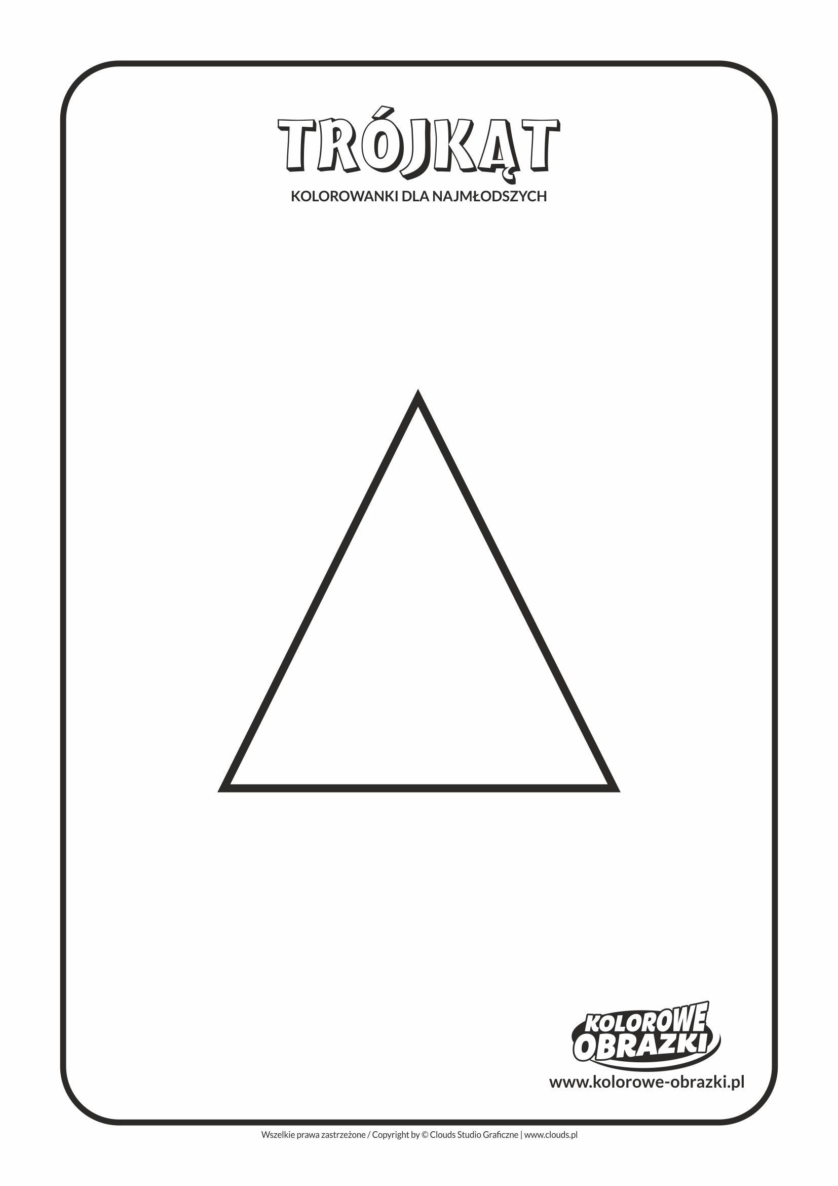 Proste kolorowanki dla najmłodszych - Kształty / Trójkąt. Kolorowanka z trójkątem