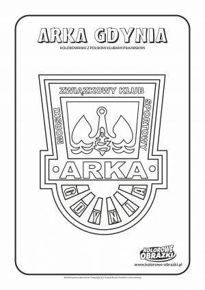Kolorowanki dla dzieci - Polskie kluby piłkarskie / Arka Gdynia. Kolorowanka z polskimi klubami piłkarskimi