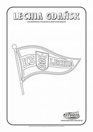 Kolorowanki dla dzieci - Polskie kluby piłkarskie / Lechia Gdańsk. Kolorowanka z polskimi klubami piłkarskimi