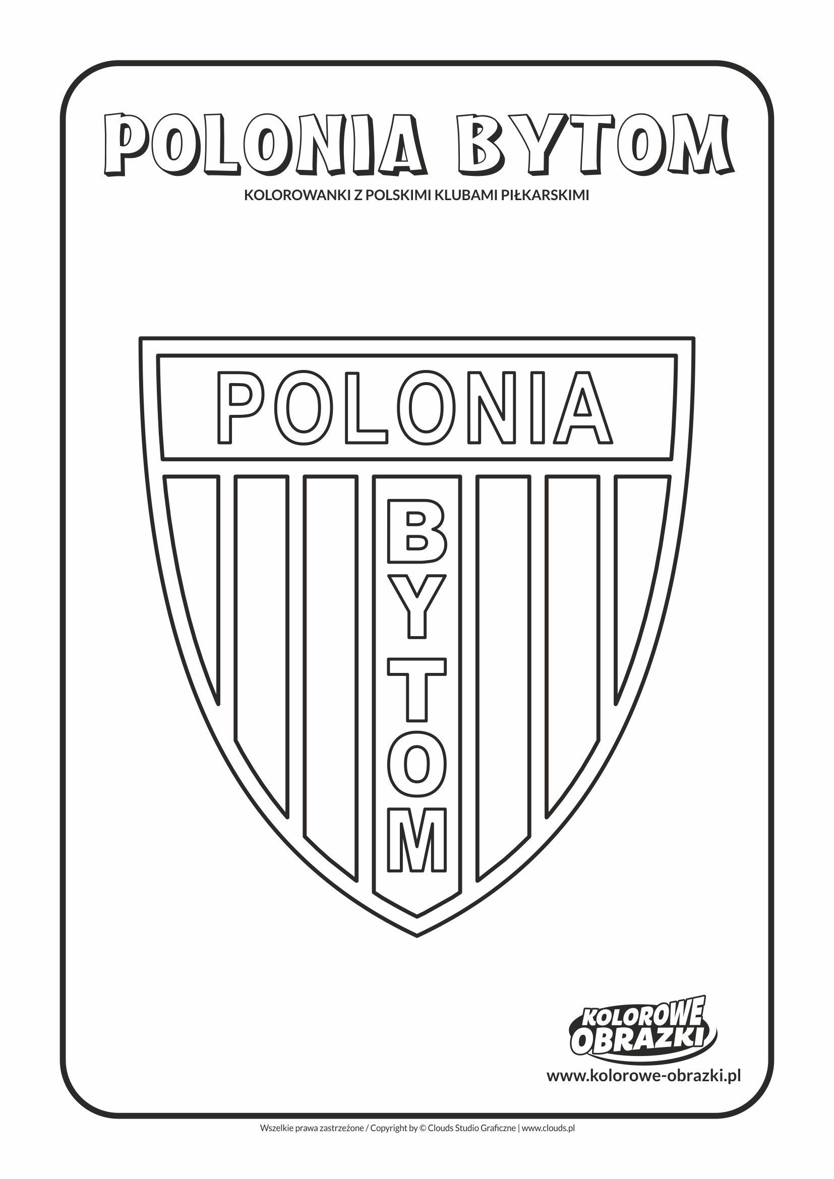 Kolorowanki dla dzieci - Polskie kluby piłkarskie / Polonia Bytom. Kolorowanka z polskimi klubami piłkarskimi