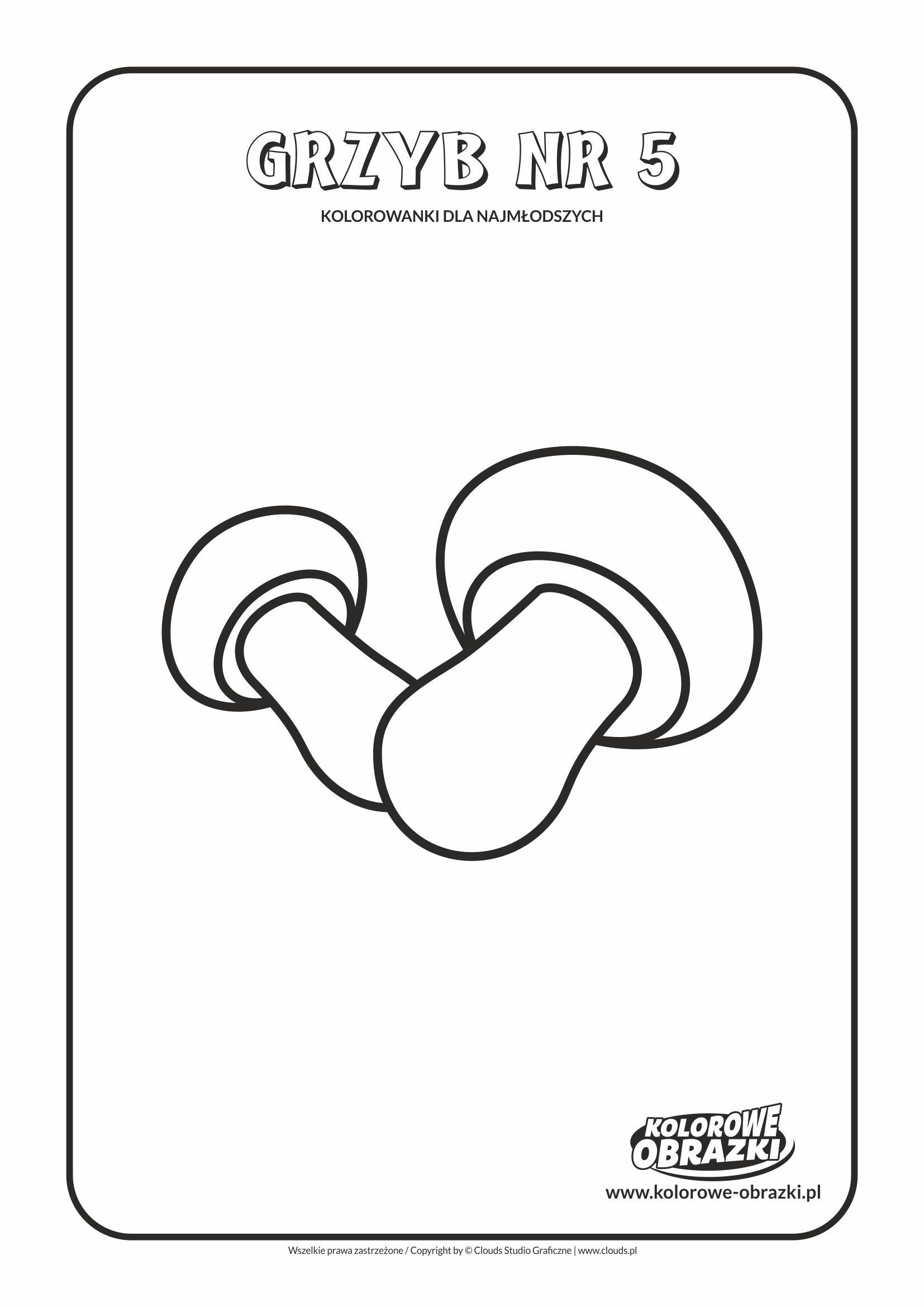 Proste kolorowanki dla najmłodszych - Grzyby / Grzyb nr 5. Kolorowanka z grzybem