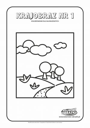 Proste kolorowanki dla najmłodszych - Krajobrazy / Krajobraz nr 1. Kolorowanka z krajobrazem