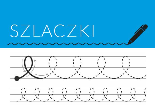 Ćwiczenia grafomotoryczne dla dzieci - Szlaczki do nauki pisania, kaligrafii