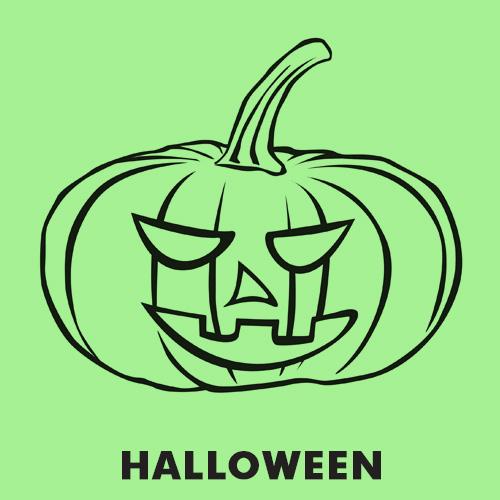 Kolorowanka dynia Halloween