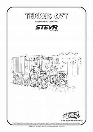 Ciągnik Steyr Terrus CVT - Kolorowanki dla dzieci