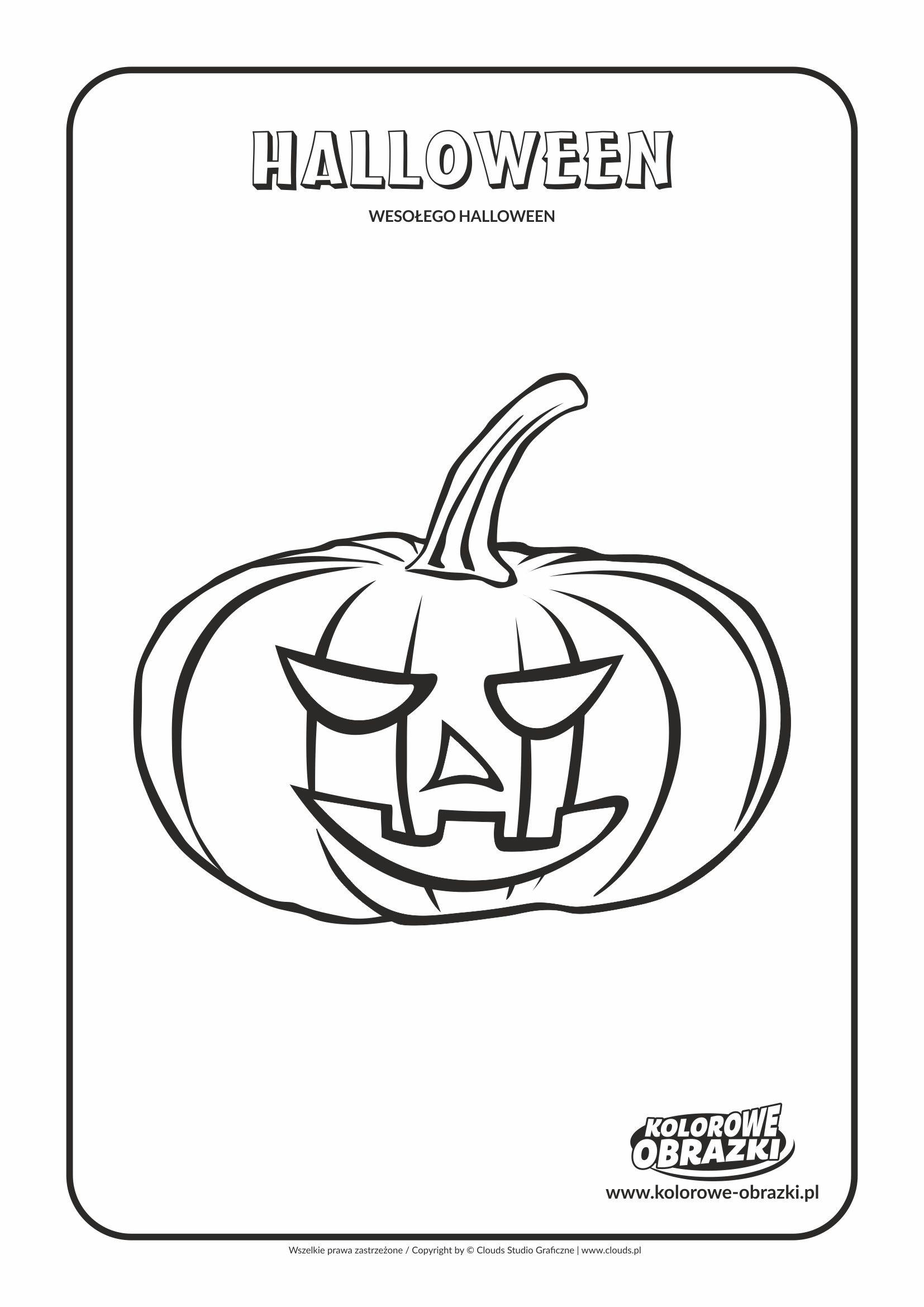 Kolorowanki Halloween - Dynia nr 1